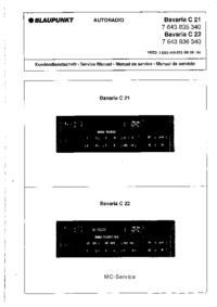 Servicehandboek Blaupunkt Bavaria C 21