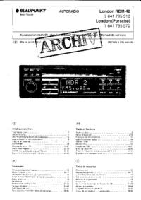 manuel de réparation Blaupunkt London (Porsche)