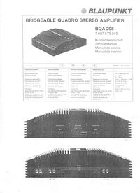 Service Manual Blaupunkt BQA 208
