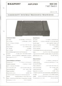 manuel de réparation Blaupunkt BSX 240