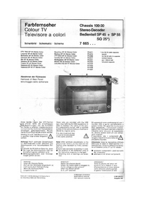 manuel de réparation Blaupunkt Mantua SP 55 Stereo Color