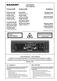 Manual de servicio Blaupunkt T-Line 3 CD