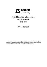 Manuale d'uso Boeco BM-800