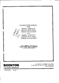 Service and User Manual Boonton 4220-S/3