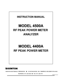 Manual del usuario Boonton 4400A