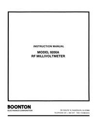 Service and User Manual Boonton 9200A