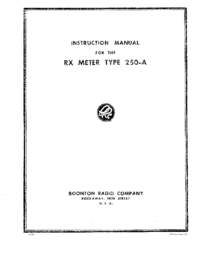 Servicio y Manual del usuario Boonton 250-A