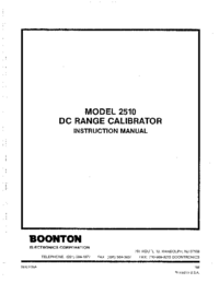 Servicio y Manual del usuario Boonton 2510