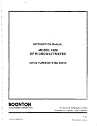 Service and User Manual Boonton 4200