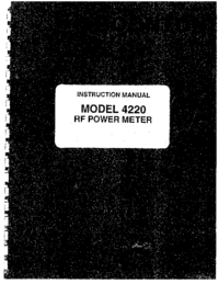 Service and User Manual Boonton 4220