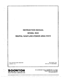 Manual del usuario Boonton 4500