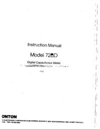 User Manual Boonton 72BD