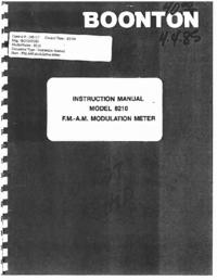 Serviço e Manual do Usuário Boonton 8210