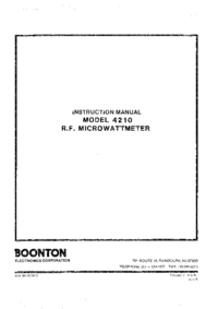Serwis i User Manual Boonton 4210