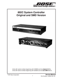 Servicehandboek Bose 802C