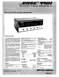 Service Manual Bose 4401