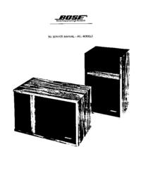 manuel de réparation Bose 301