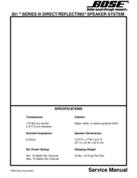 Service Manual Bose 301 Series III