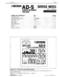 manuel de réparation Boss AD-5