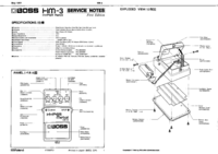 Service Manual Boss HM-3