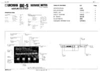 Service Manual Boss BE-5