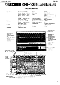 Service Manual Boss GE-10