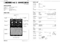Manuale di servizio Boss HC-2
