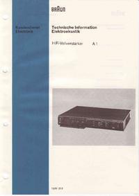 Servicehandboek Braun A1