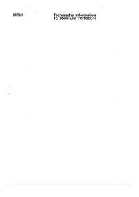 Service Manual Braun TG 1000/4