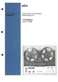 Service Manual Braun TG 1020