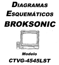 Manual de servicio Broksonic CTVG-4545LST