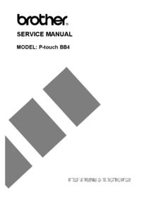 manuel de réparation Brother P-touch BB4