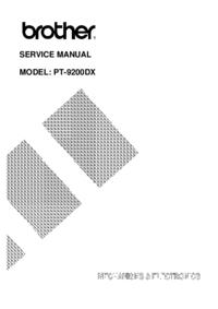 Manual de serviço Brother PT-9200DX