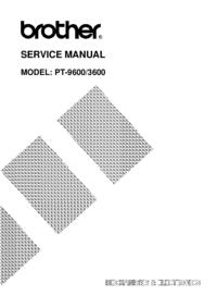 Manual de serviço Brother PT-9600