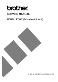 Servicehandboek Brother PT-MT (P-touch mini' tech)