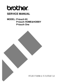 Manual de servicio Brother P-touch 65