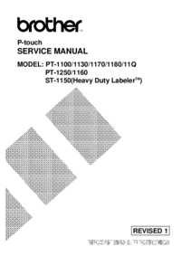 Service Manual Brother PT-1170