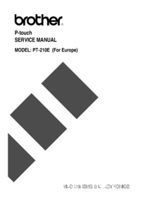 Service Manual Brother PT-210E (For Europe)
