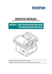 Serviceanleitung Brother DCP8025DN