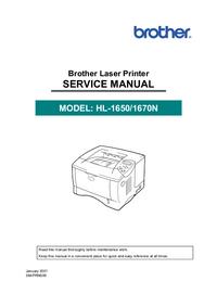 Руководство по техническому обслуживанию Brother HL-1650