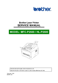 Service Manual Brother HL-P2500