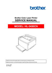 Service Manual Brother HL-3450CN