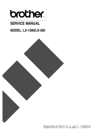 Service Manual Brother LX-1200