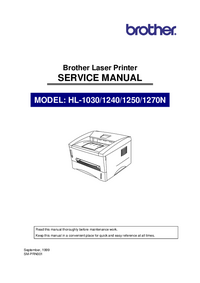 Manual de servicio Brother HL-1240