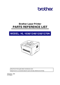 Part List Brother HL-1270N