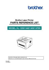 Lista części Brother HL-1440