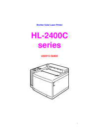 User Manual Brother HL-2400C series