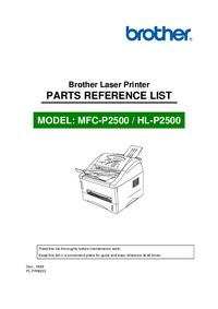 Parte de lista Brother MFC-P2500