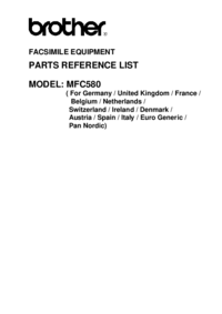 Part List Brother MFC580