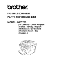 Part List Brother MFC760